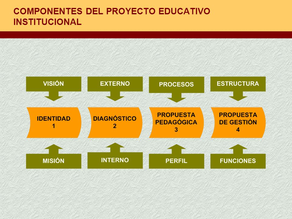 COMPONENTES DEL PROYECTO EDUCATIVO INSTITUCIONAL