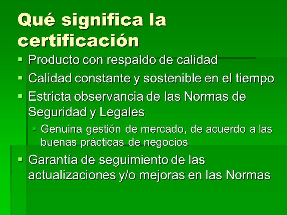 Qué significa la certificación