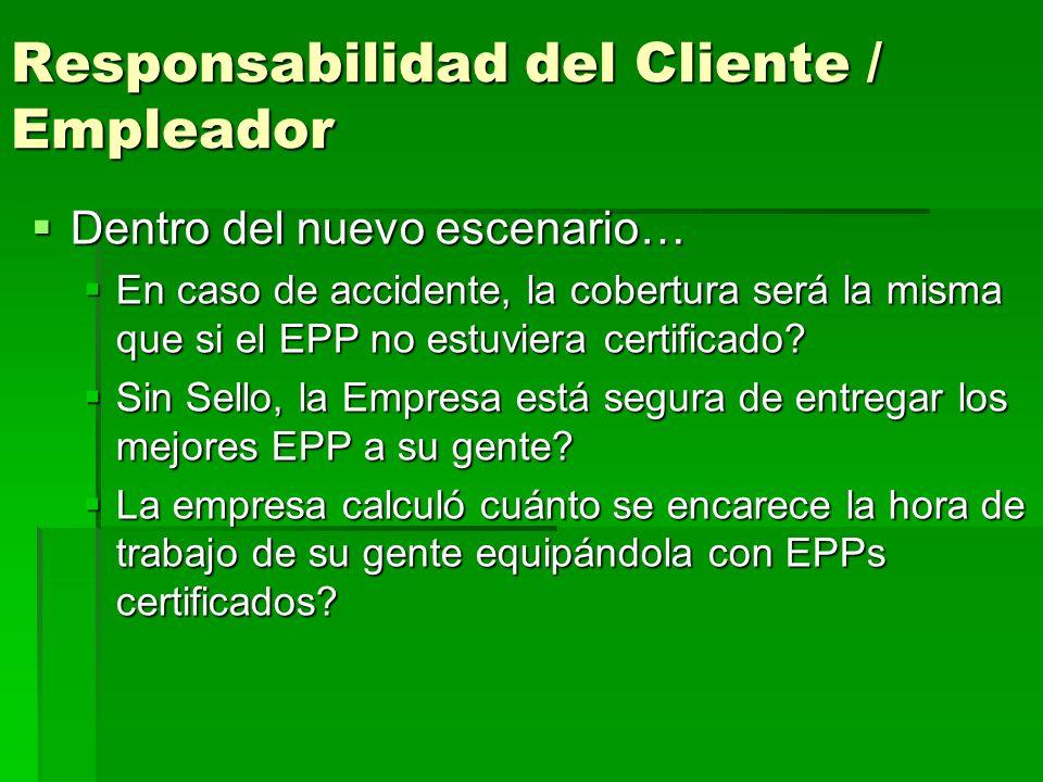 Responsabilidad del Cliente / Empleador