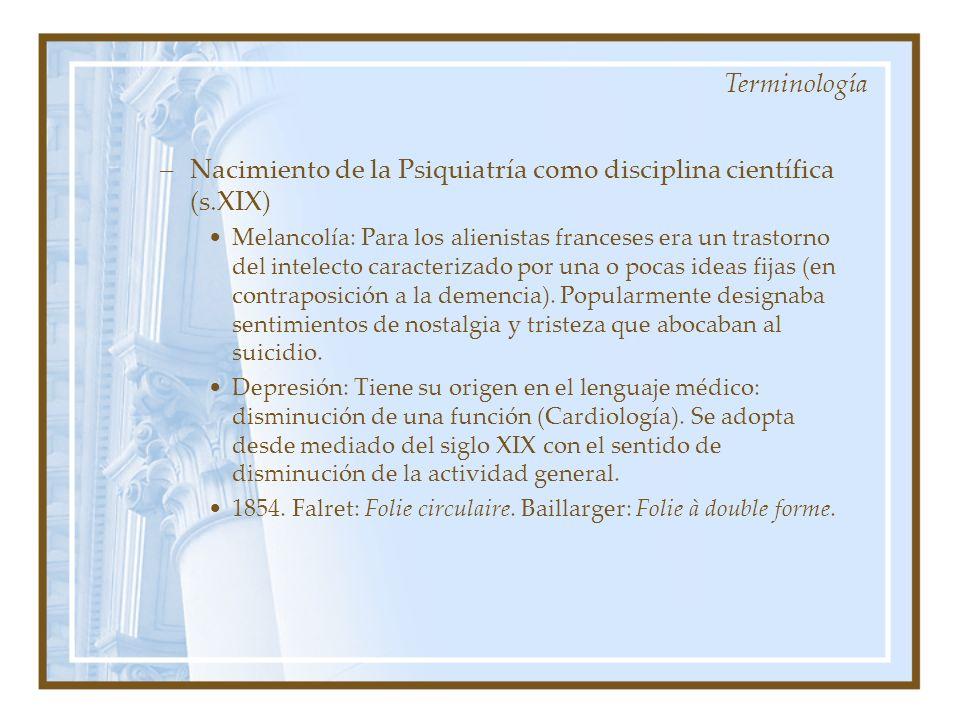 Nacimiento de la Psiquiatría como disciplina científica (s.XIX)