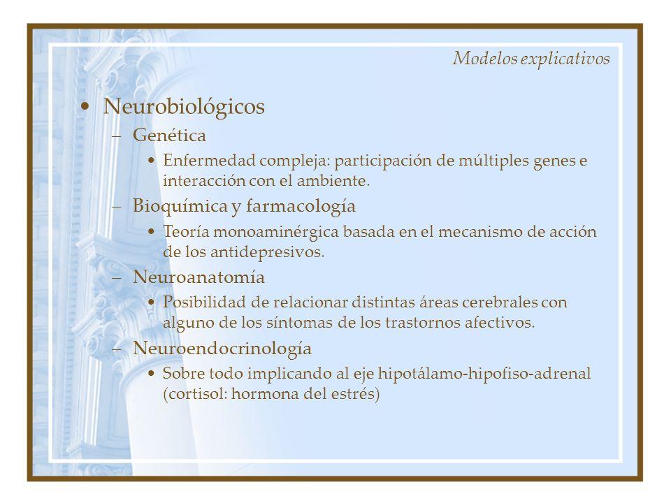 Neurobiológicos Modelos explicativos Genética