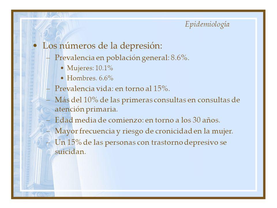 Los números de la depresión: