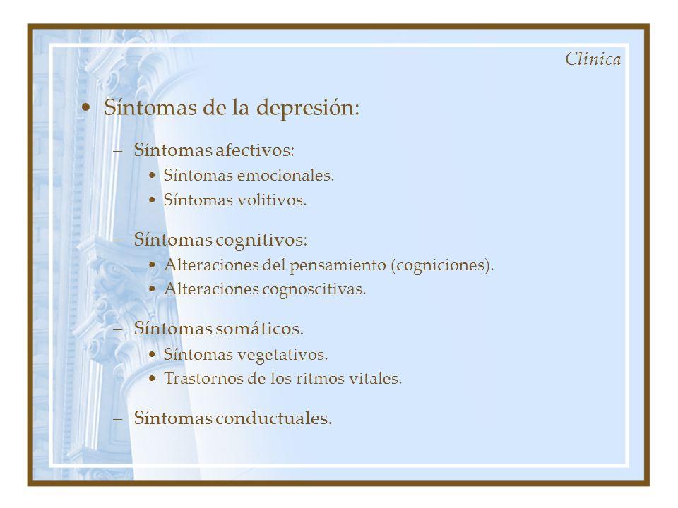 Síntomas de la depresión: