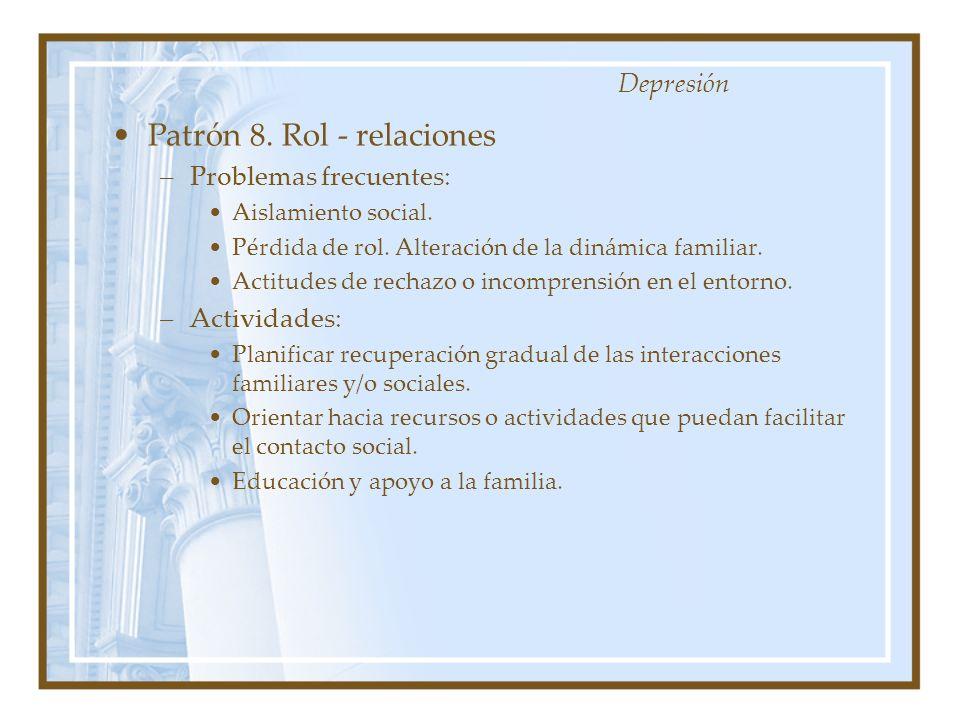 Patrón 8. Rol - relaciones