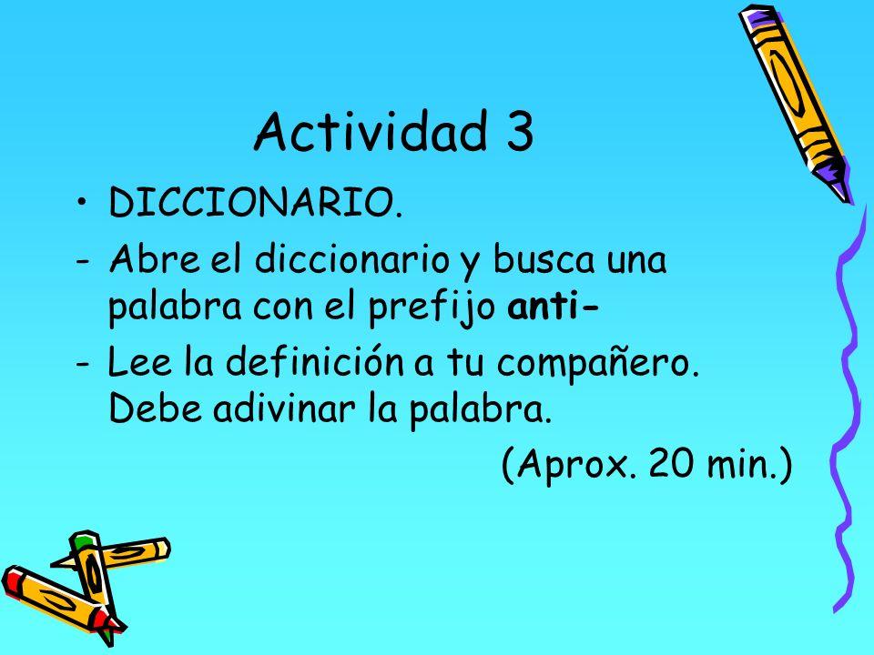 Actividad 3 DICCIONARIO.