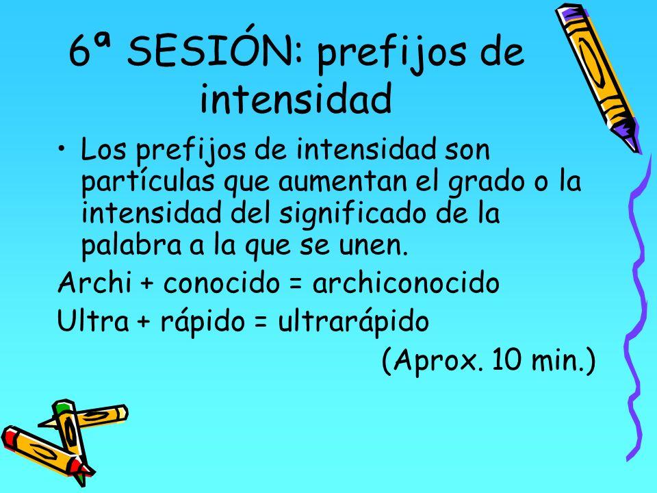 6ª SESIÓN: prefijos de intensidad