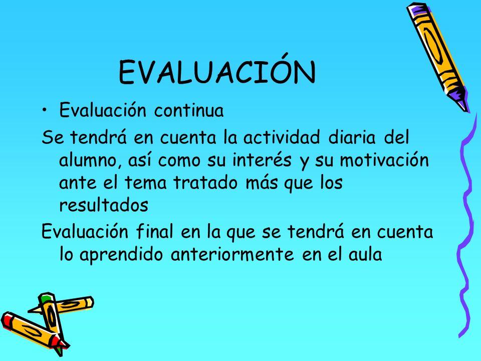EVALUACIÓN Evaluación continua
