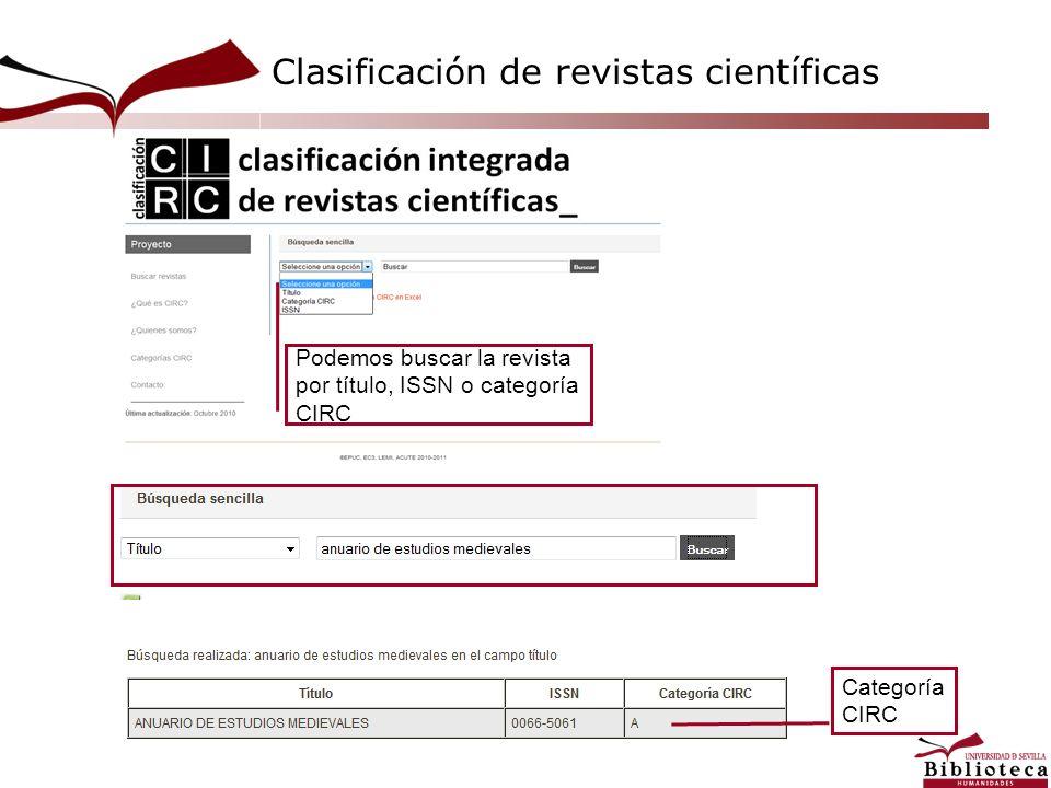Clasificación de revistas científicas