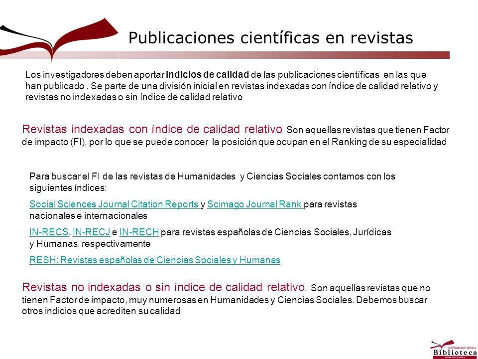 Publicaciones científicas en revistas