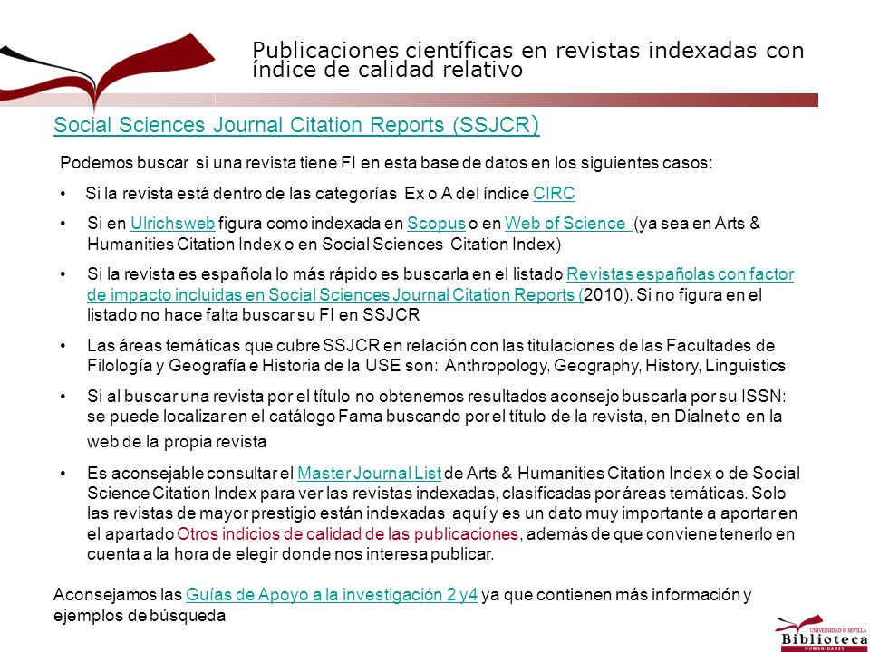 Social Sciences Journal Citation Reports (SSJCR)