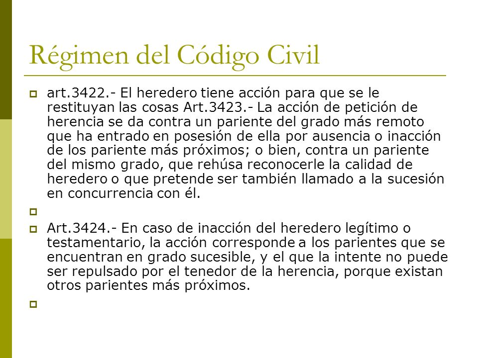 Régimen del Código Civil