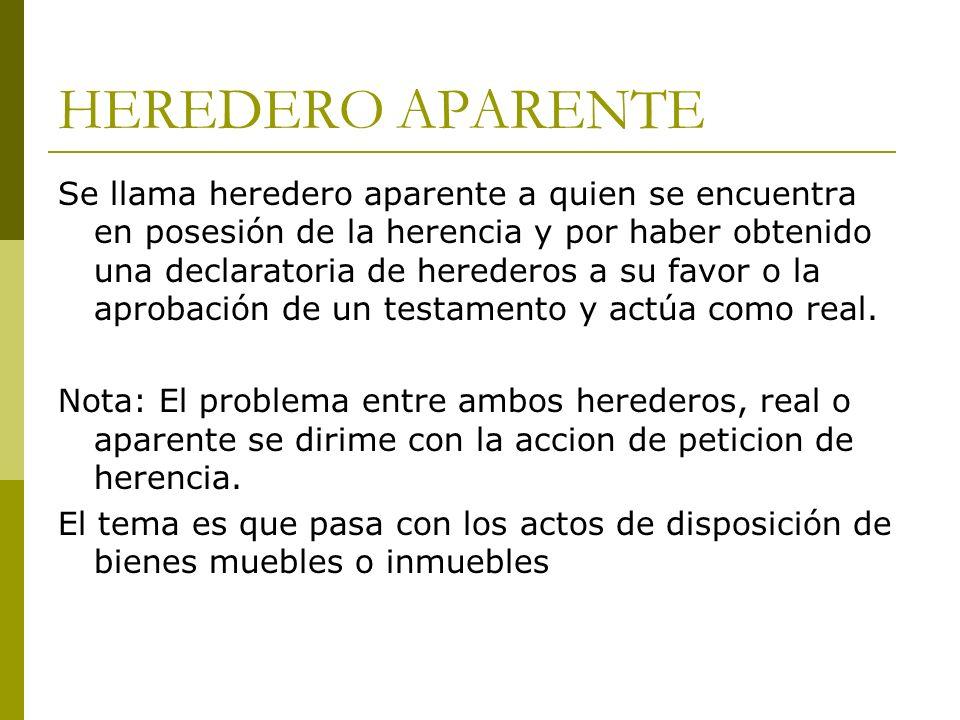 HEREDERO APARENTE