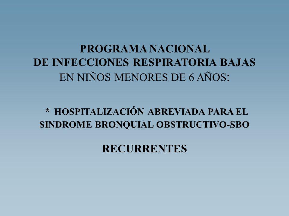 * HOSPITALIZACIÓN ABREVIADA PARA EL SINDROME BRONQUIAL OBSTRUCTIVO-SBO
