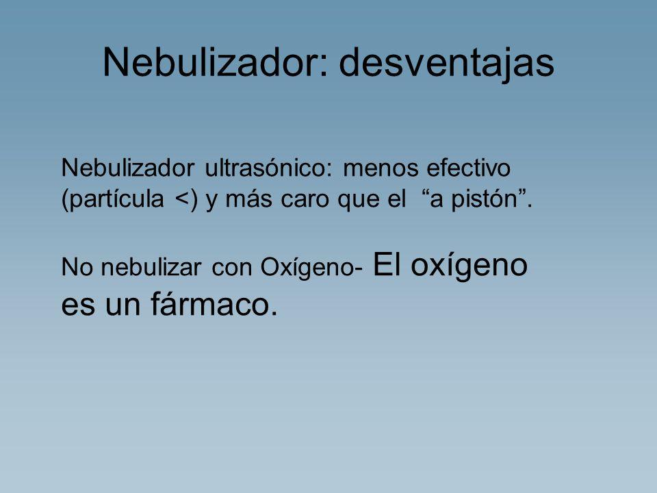 Nebulizador: desventajas