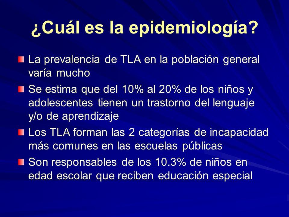 ¿Cuál es la epidemiología