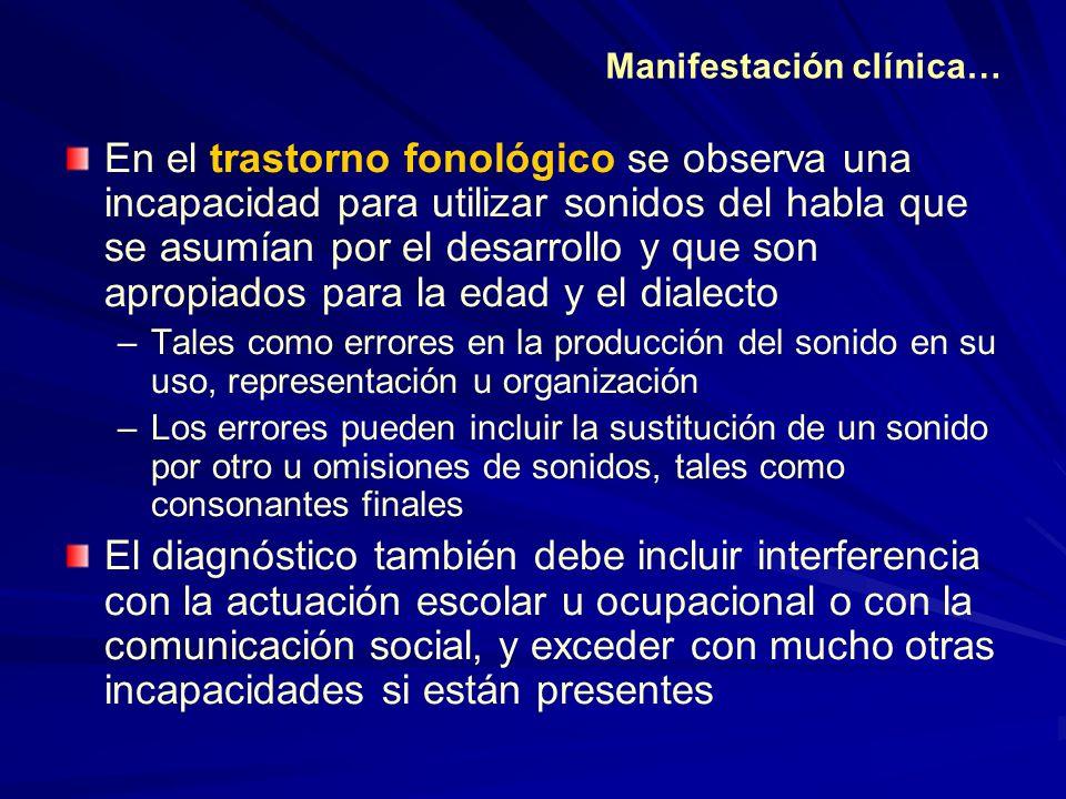Manifestación clínica…