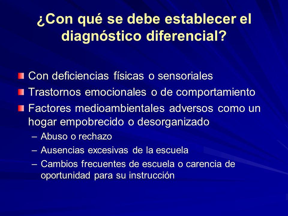 ¿Con qué se debe establecer el diagnóstico diferencial