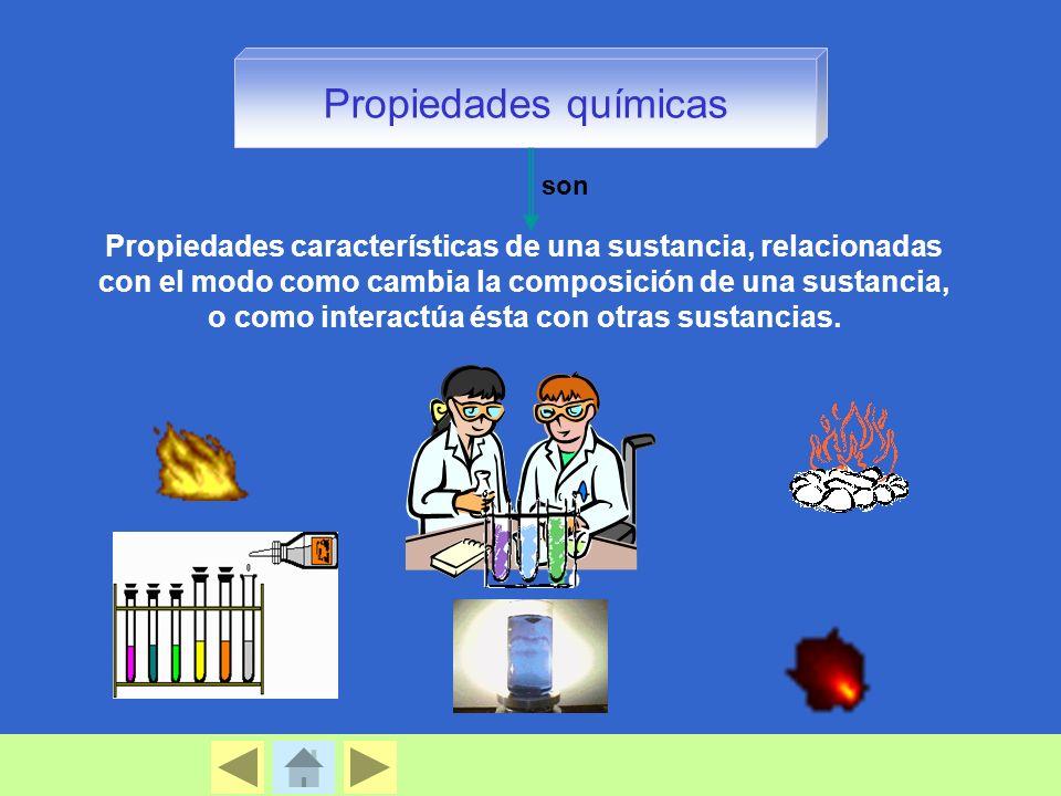 Propiedades químicas son.