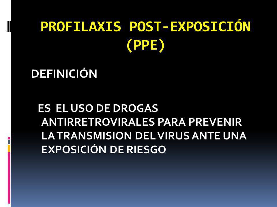 PROFILAXIS POST-EXPOSICIÓN (PPE)