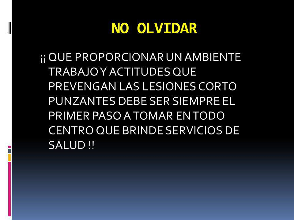 NO OLVIDAR