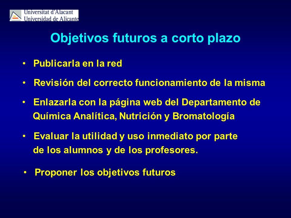 Objetivos futuros a corto plazo