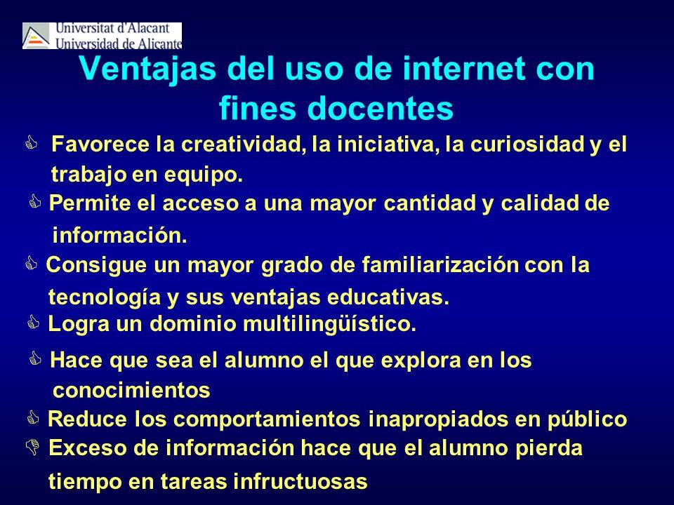 Ventajas del uso de internet con fines docentes