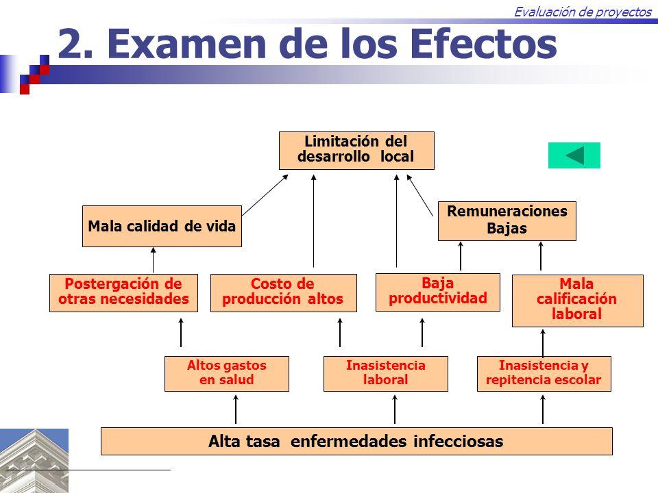 2. Examen de los Efectos Alta tasa enfermedades infecciosas