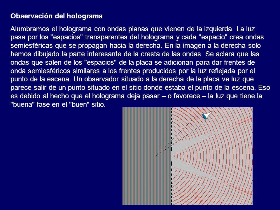 Observación del holograma