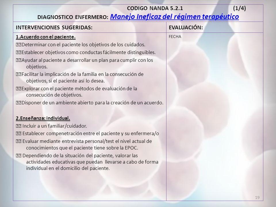 INTERVENCIONES SUGERIDAS: EVALUACIÓN:
