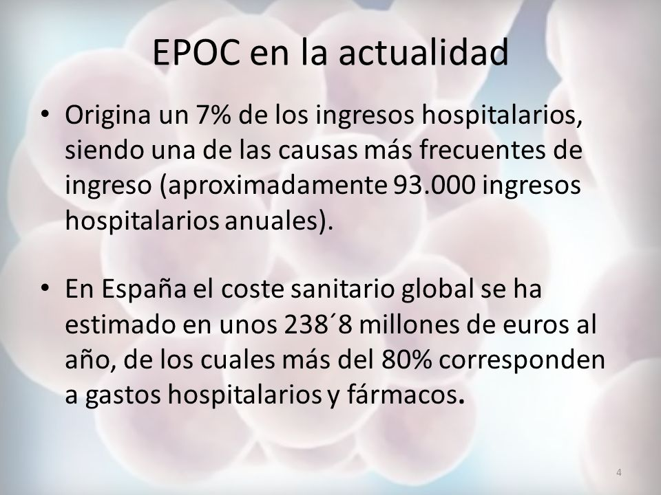 EPOC en la actualidad