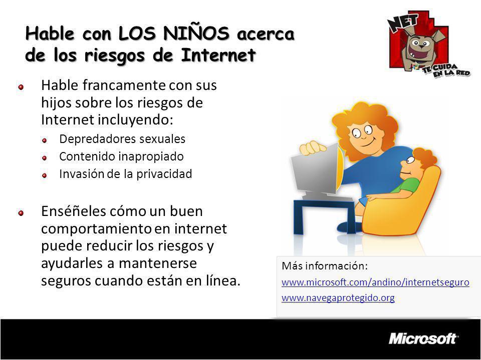 Hable con LOS NIÑOS acerca de los riesgos de Internet