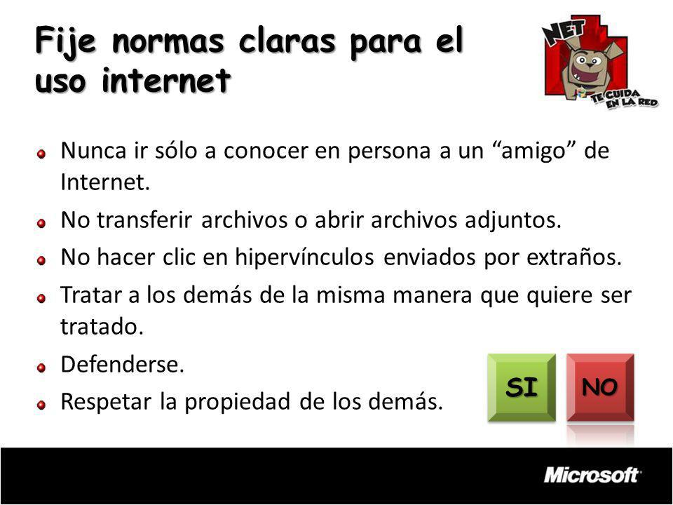 Fije normas claras para el uso internet