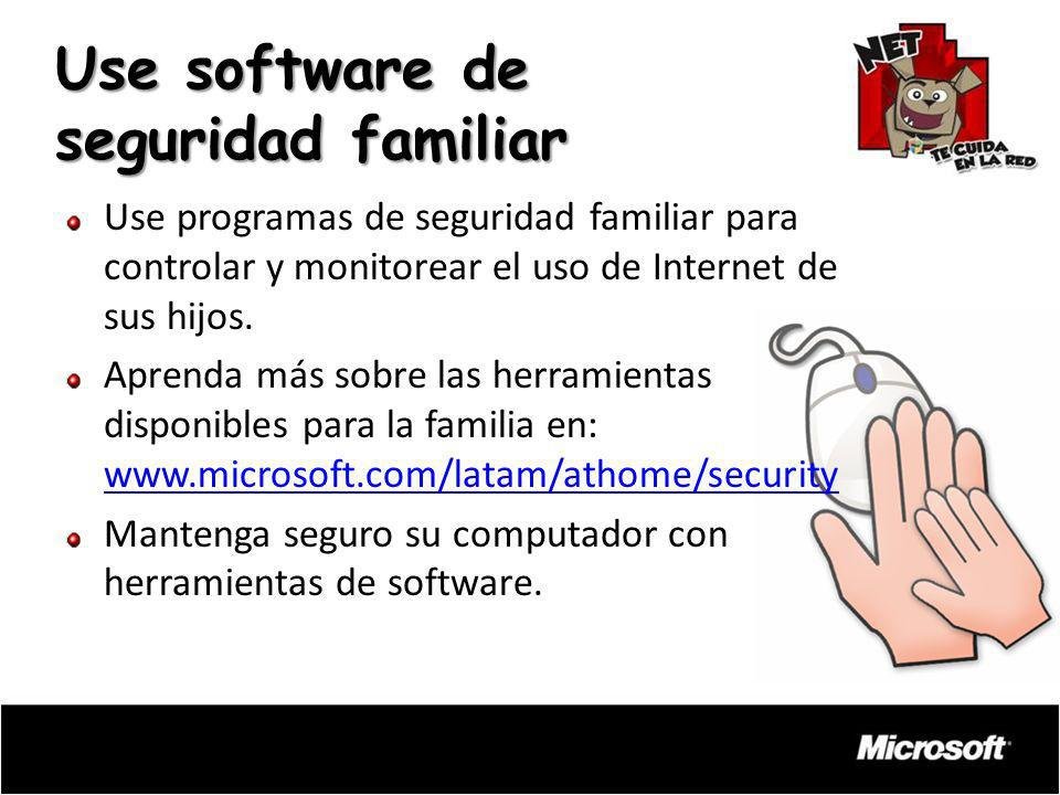Use software de seguridad familiar