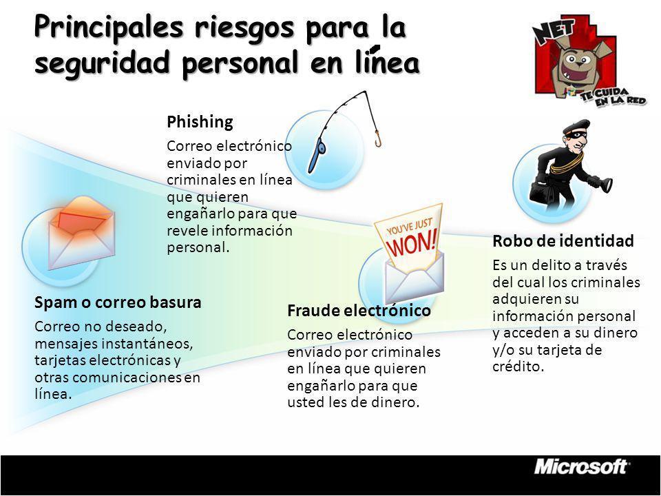 Principales riesgos para la seguridad personal en linea