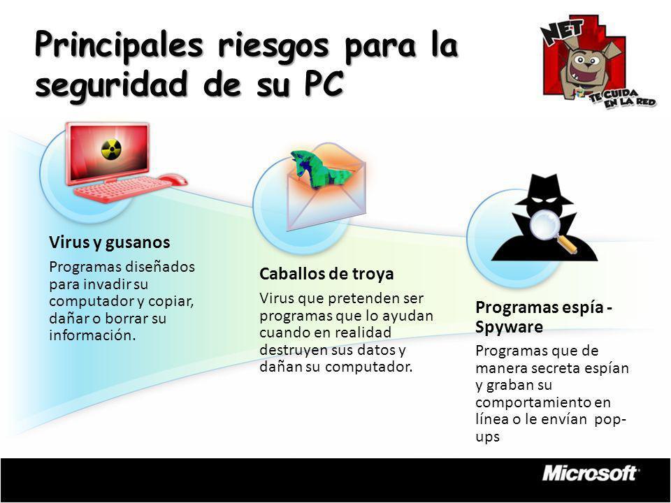 Principales riesgos para la seguridad de su PC