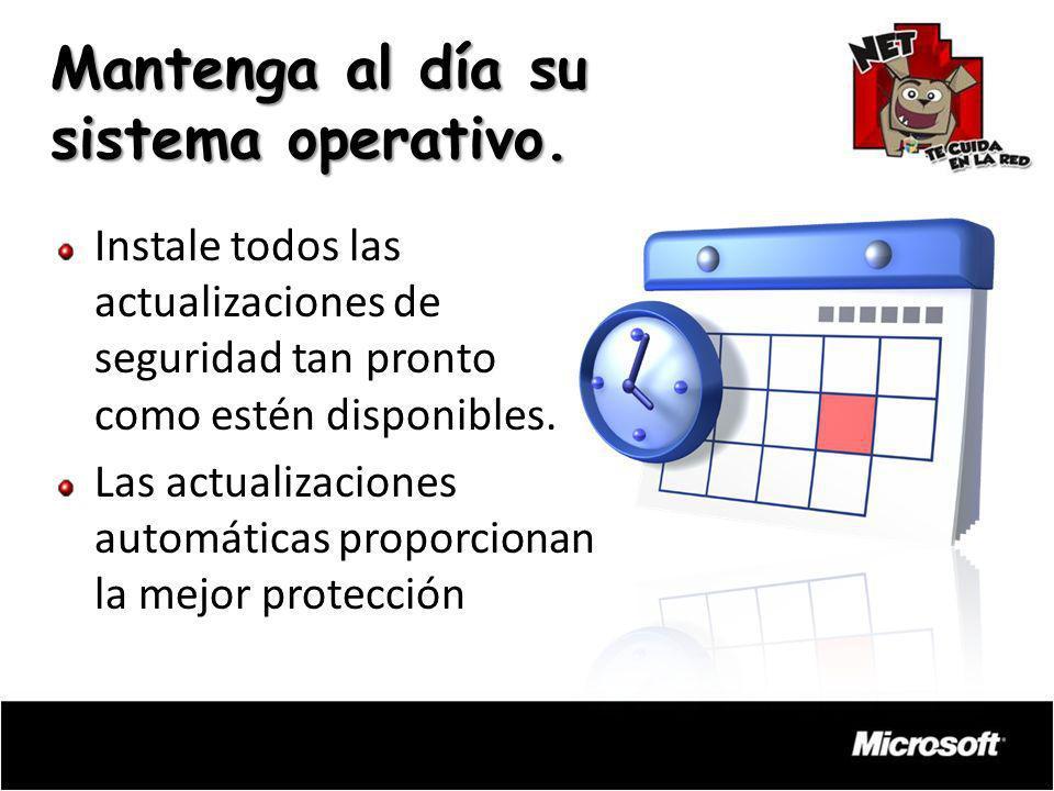 Mantenga al día su sistema operativo.