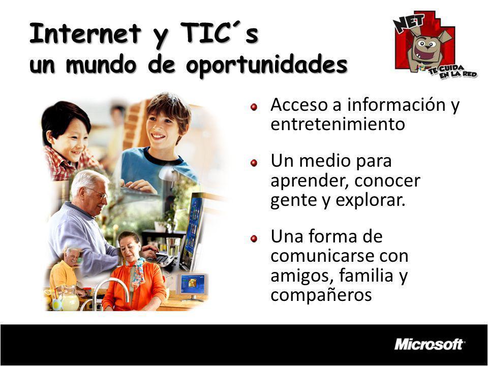 Internet y TIC´s un mundo de oportunidades