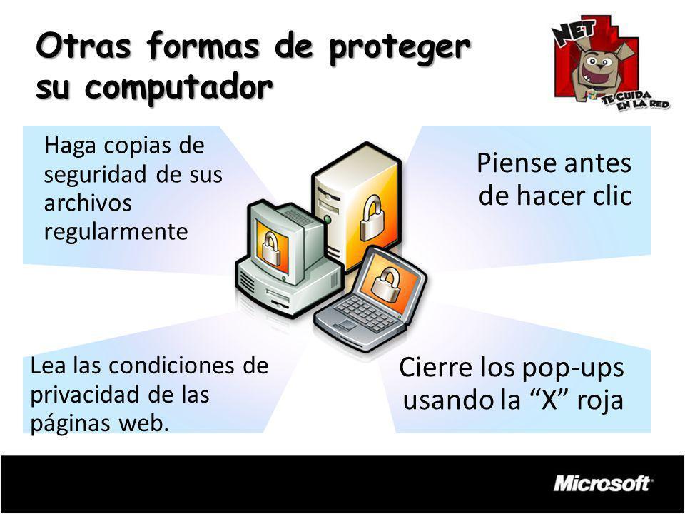 Otras formas de proteger su computador