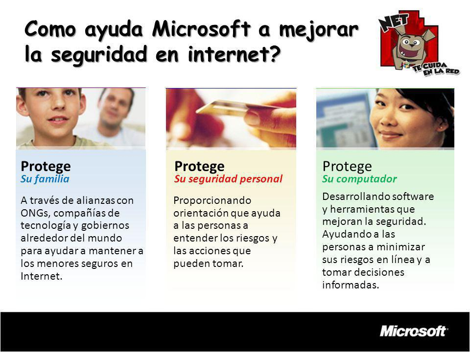 Como ayuda Microsoft a mejorar la seguridad en internet