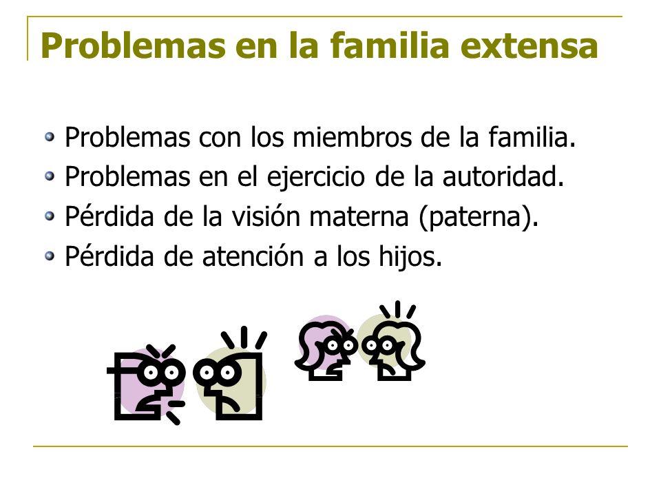 Problemas en la familia extensa