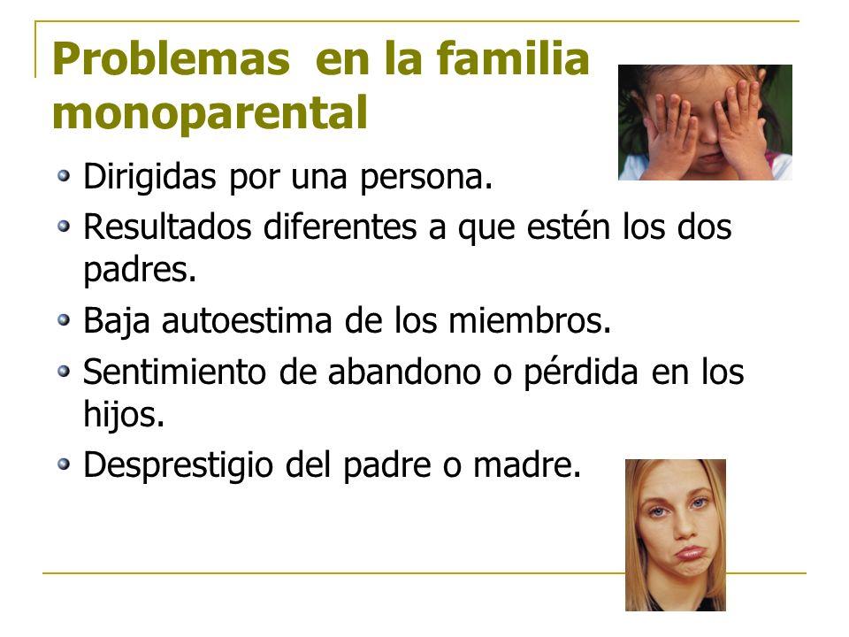 Problemas en la familia monoparental