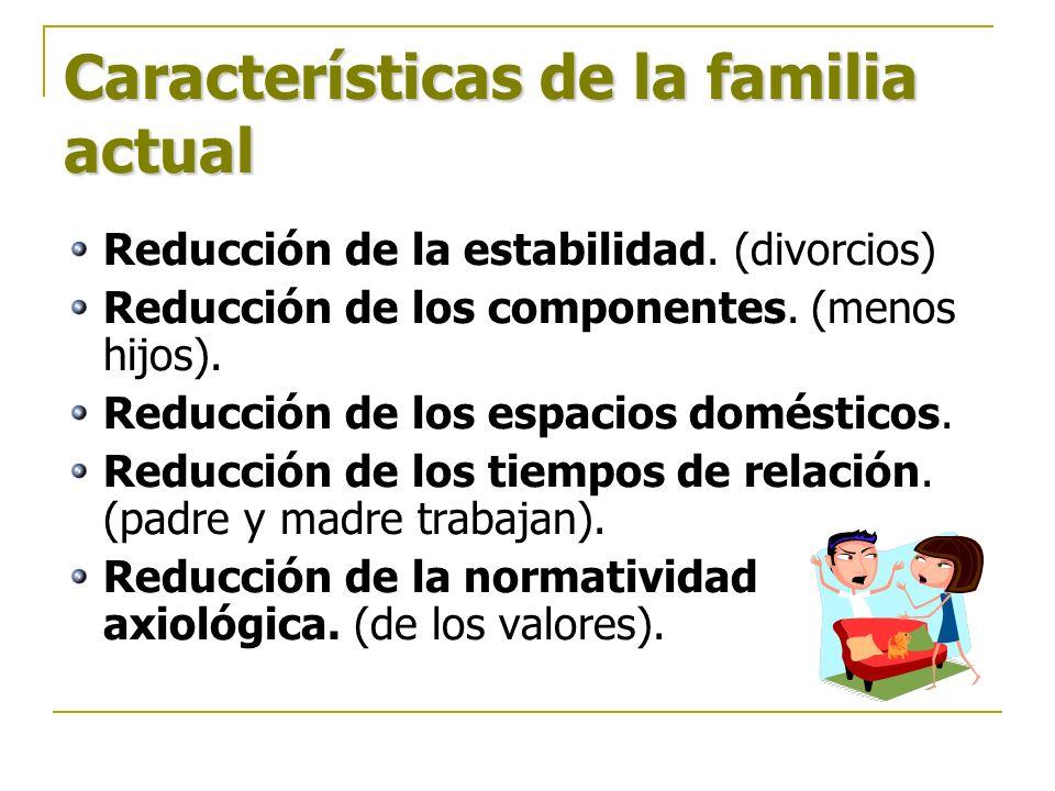 Características de la familia actual