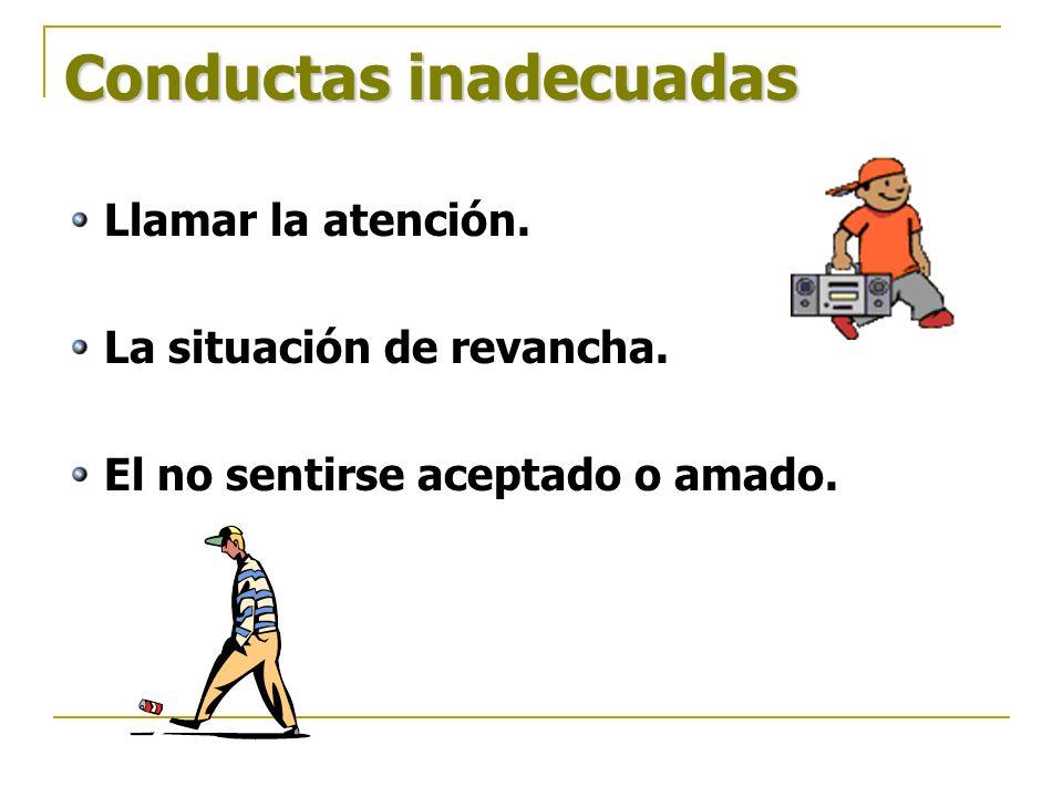 Conductas inadecuadas