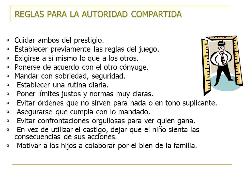 REGLAS PARA LA AUTORIDAD COMPARTIDA