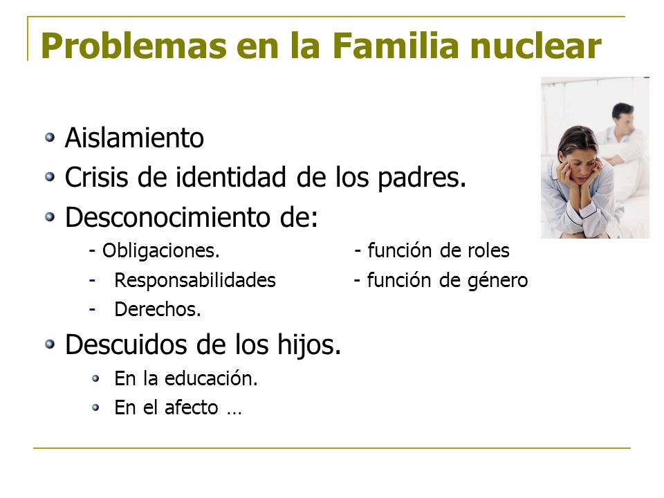 Problemas en la Familia nuclear