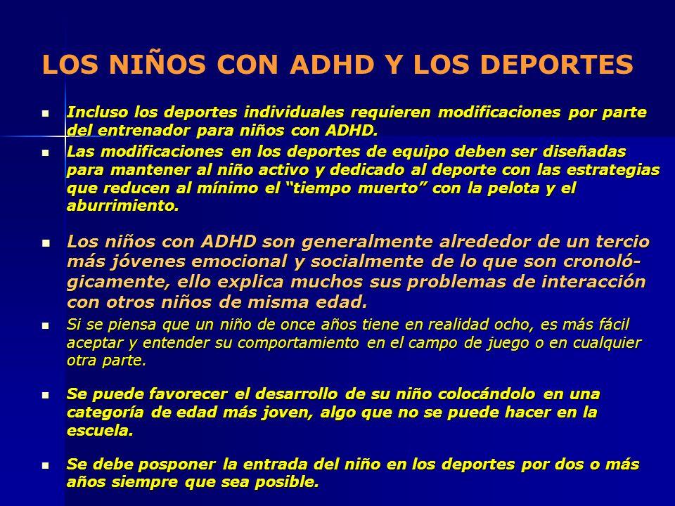 LOS NIÑOS CON ADHD Y LOS DEPORTES