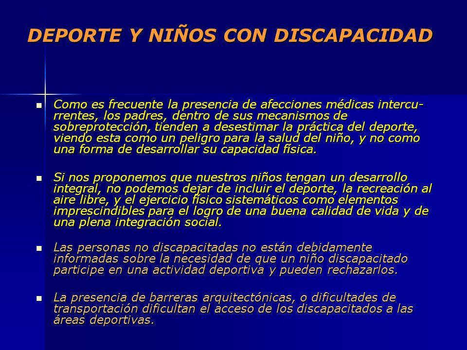 DEPORTE Y NIÑOS CON DISCAPACIDAD