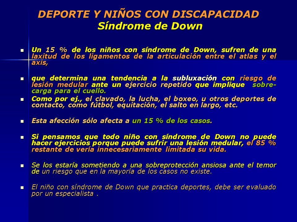 DEPORTE Y NIÑOS CON DISCAPACIDAD Síndrome de Down