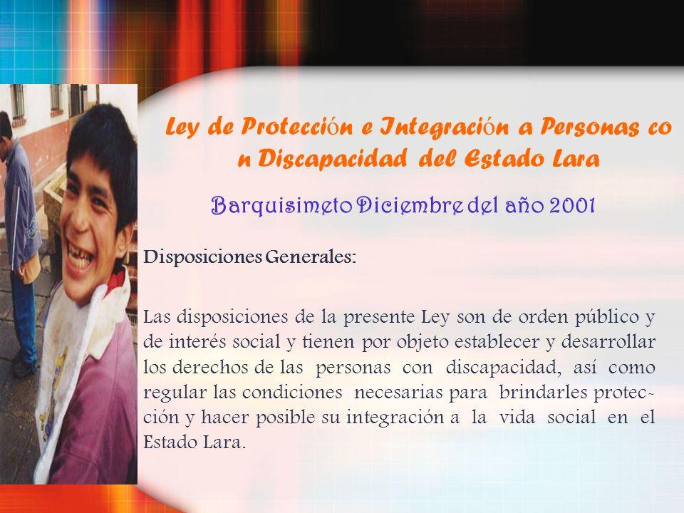 Barquisimeto Diciembre del año 2001