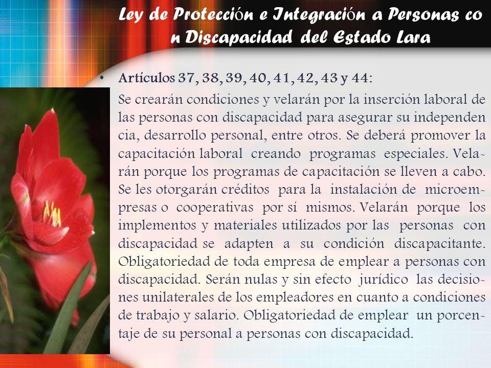 Ley de Protección e Integración a Personas con Discapacidad del Estado Lara